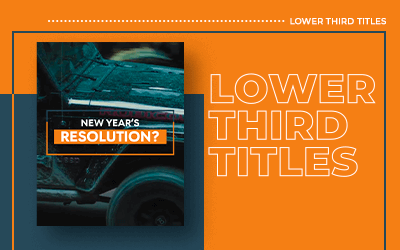 Cover - Lower Third Titles